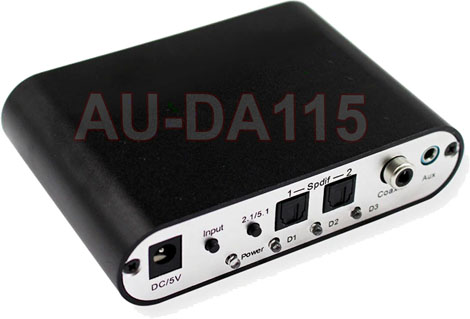 Digital Optical Coax S/PDIF Audio To 5.1 Analog Surround Sound Decoder