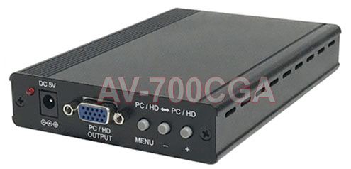 RGB CGA VGA HD Component Video To VGA HD Component Video Scaler