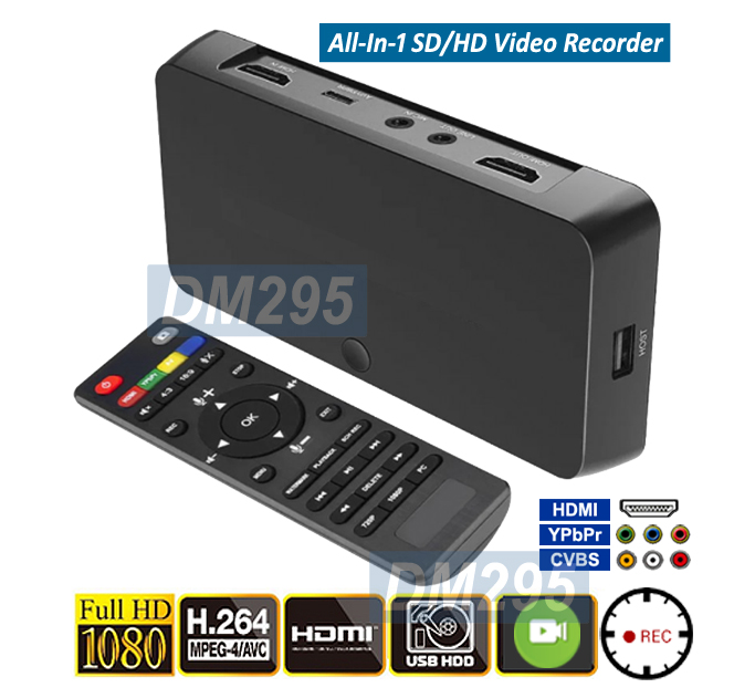 All-In-1 HDMI HD SD Digital Video Recorder With 4Kx2K Input Support