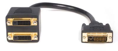 Premium DVI Video Splitter Cable With 1 DVI In 2 DVI Out