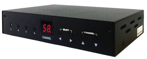 4-Input Composite Video Audio To RF Coax TV Modulator
