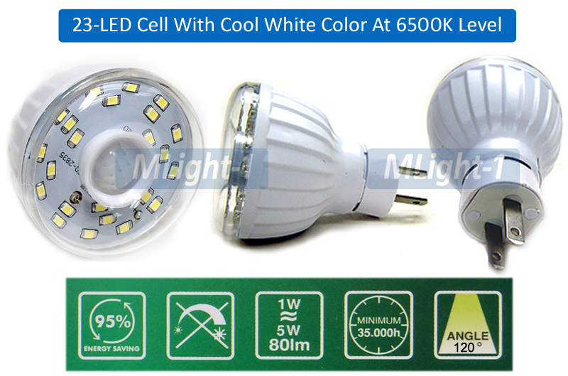 23-LED Motion Sensor LED Light With Smart Photocell Sensor