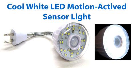 24-LED Motion Sensor LED Light With Smart Photocell Sensor