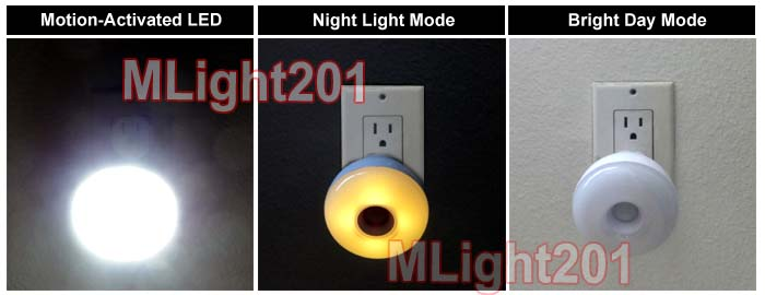 Bright Led Night Light For Ac Outlet Plug In No Wiring Needed Ebay