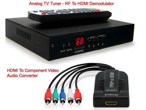 Professional RF Coax To HDMI Demodulator TV Tuner
