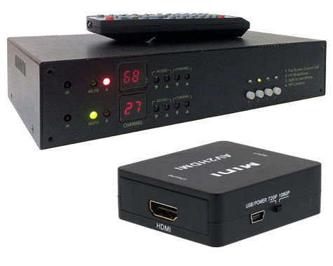 Analog Dual TV Tuner With 1080p HDMI Out + Picture-In-Picture Support
