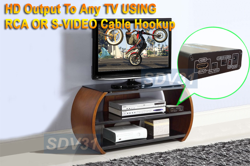Instant Decoding From HDMI DVI To NTSC PAL Composite S-Video