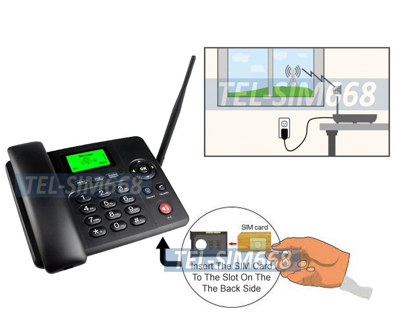 Premium Wireless 3G GSM Desk Phone With Text Message Voice Mail FM Tuner